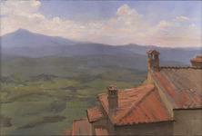 Val D'Orcia from the Rooftops Above Monteverdi